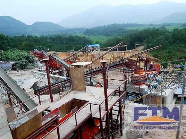 aggregate quarry crushing plant